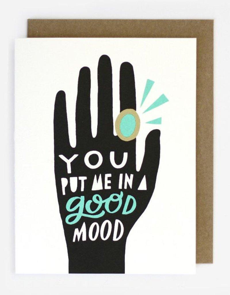 Worthwhile Paper Good Mood Mood Ring Card