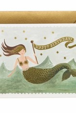 Vintage Mermaid Birthday Card