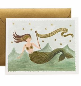 Vintage Mermaid Birthday Card