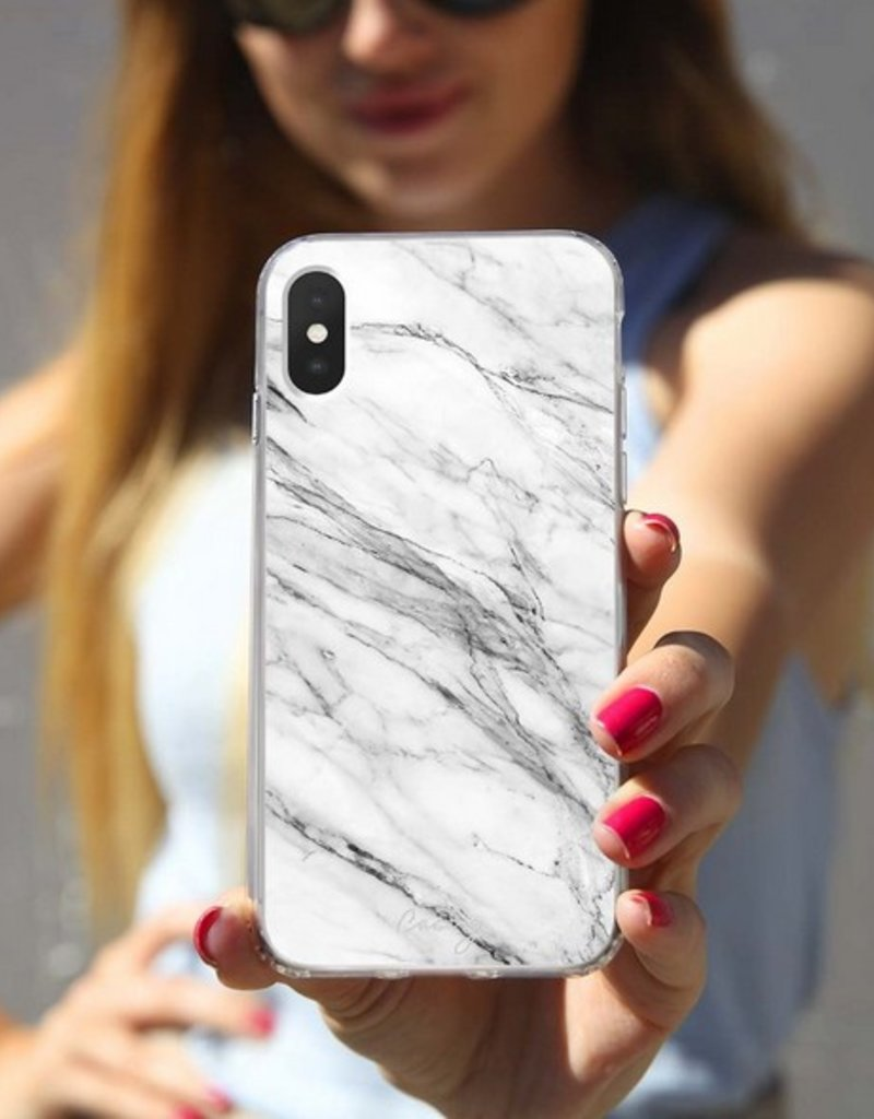 The Casery White Marble Phone Case - iPhone 6/7
