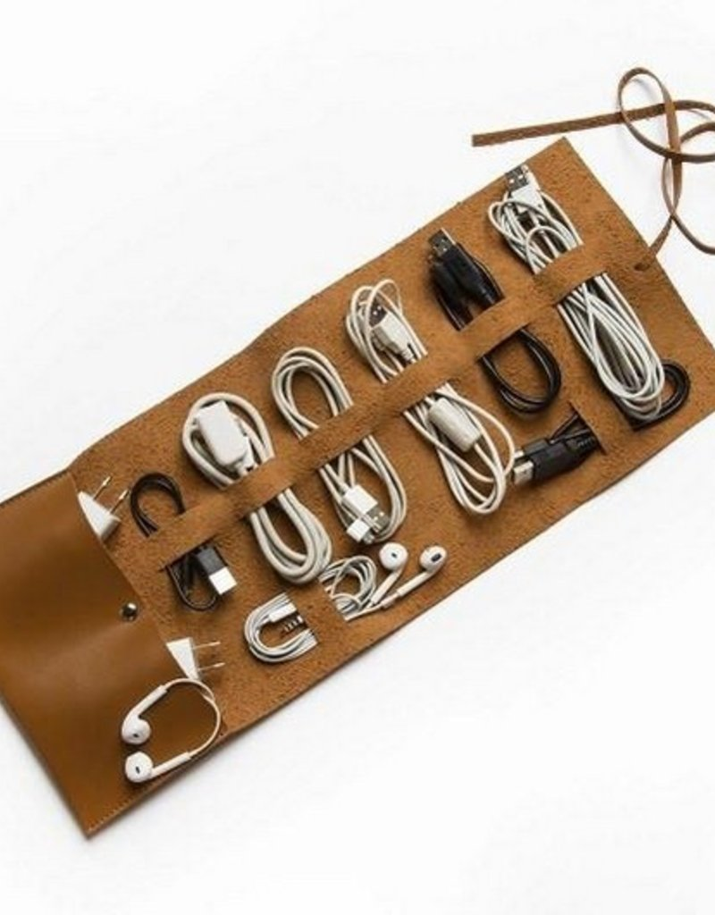 Travel Cord Roll - Brown