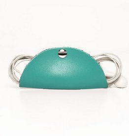 Leather Cord Snap - Turquoise