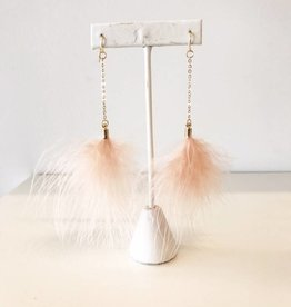 Feather Earring - Blush
