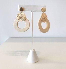 Wooded Dangle Earring