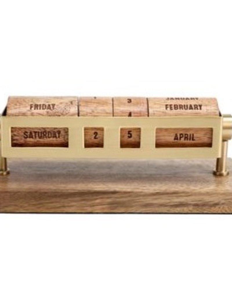 Perpetual Wooden Desk Calendar