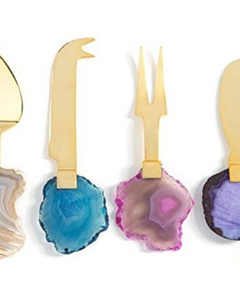Agate Cheese Knives - Set of 4