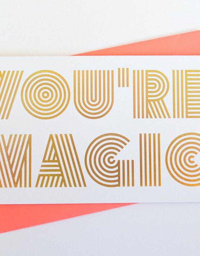 Anemone Letterpress You're Magic Gold Holographic Foil Card