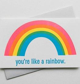 Anemone Letterpress You're Like a Rainbow Card