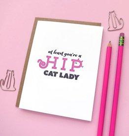 Hip Cat Lady Card