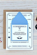 Fortune Telling Letterpress Card - Thank You