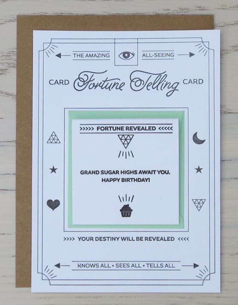 Fortune Telling Letterpress Card: Happy Birthday