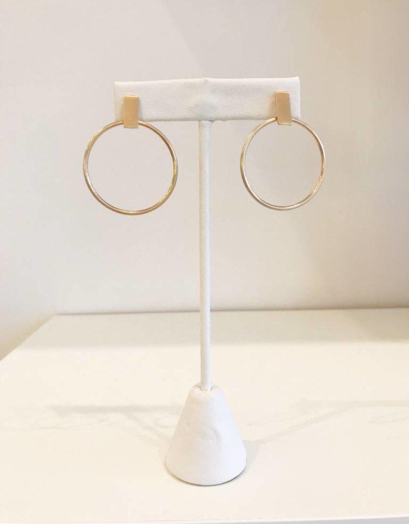 Simple Drop Hoop Earring