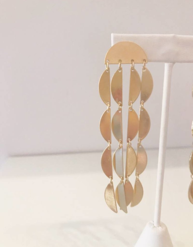 Gold Fringe Drop Earring