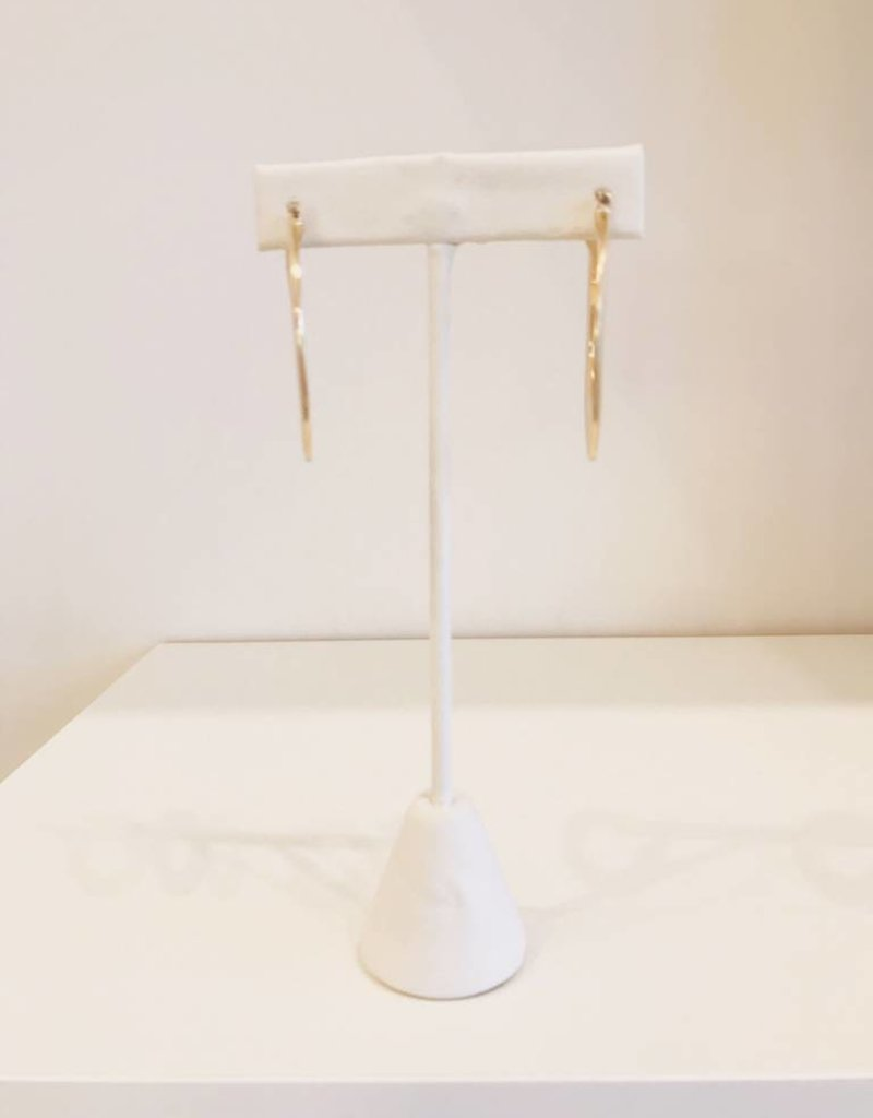 Thick Gold Hoops - Medium