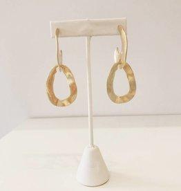 Gold Double Drop Earrings