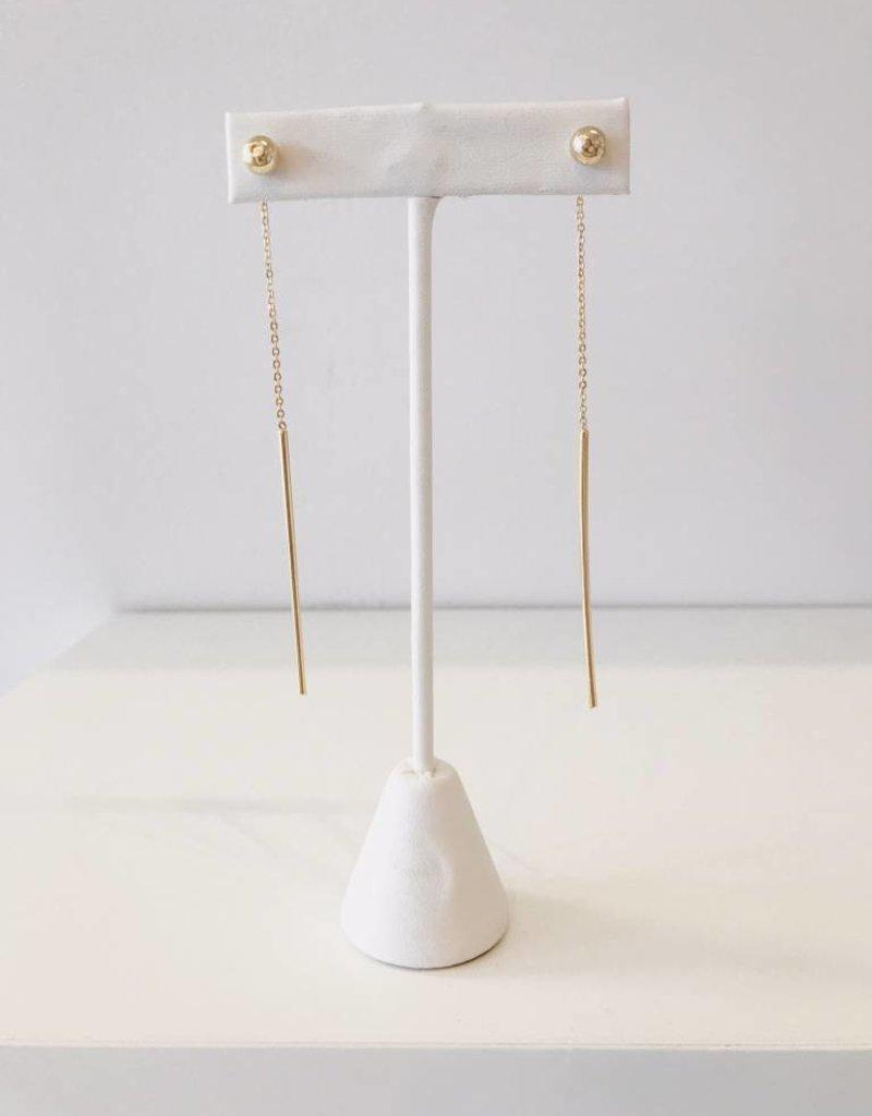 Ball and Tassel Earring - Gold