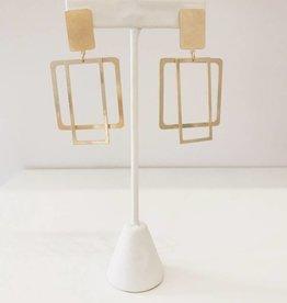 Open Geometric Earring - Gold