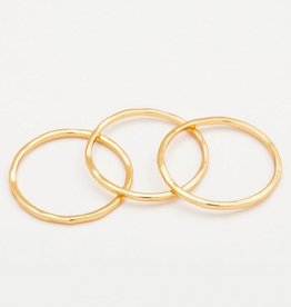 Gorjana G Ring Set - Gold - Size 6