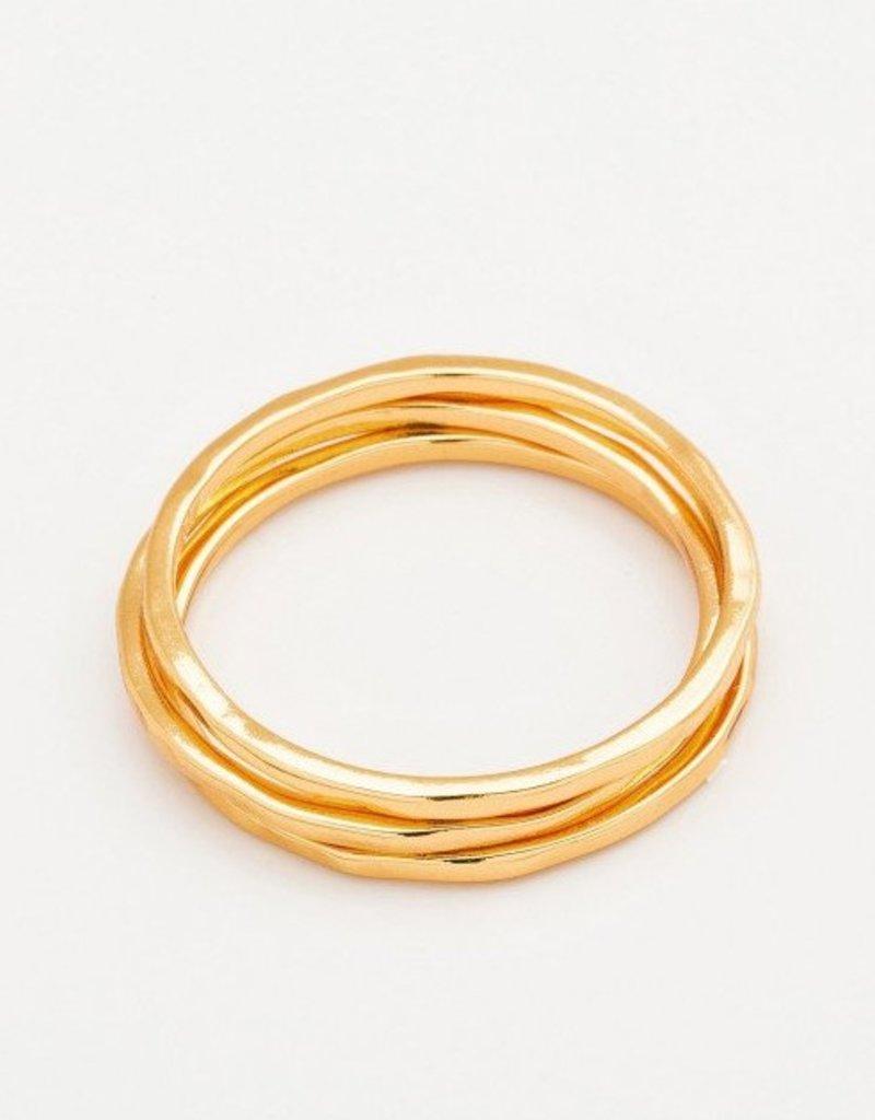 Gorjana G Ring Set - Gold - Size 7
