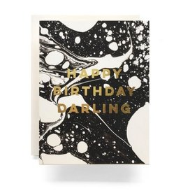 Antiquaria Marble Birthday Darling Greeting Card