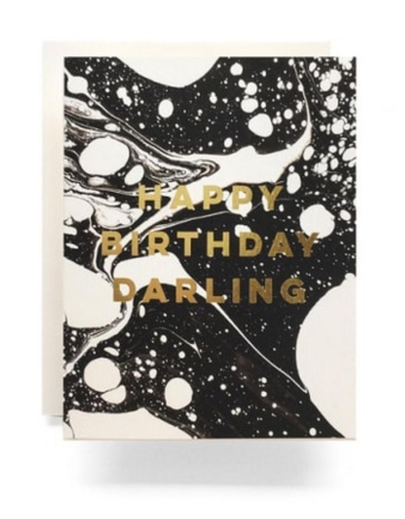 Antiquaria Marble Birthday Darling Greeting Card