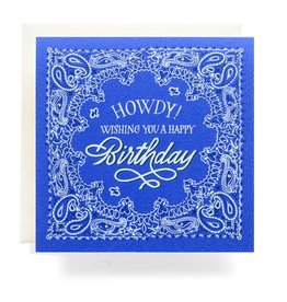 Antiquaria Bandana Howdy Birthday Greeting Card