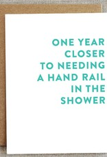 Handrail in the Shower Birthday Card