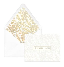 Pearl Floral Thank You Notes