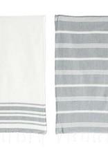 Cotton Woven Kitchen Towels - White