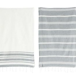 Cotton Woven Kitchen Towels - White
