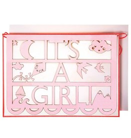 It's A Girl Cut Out Card