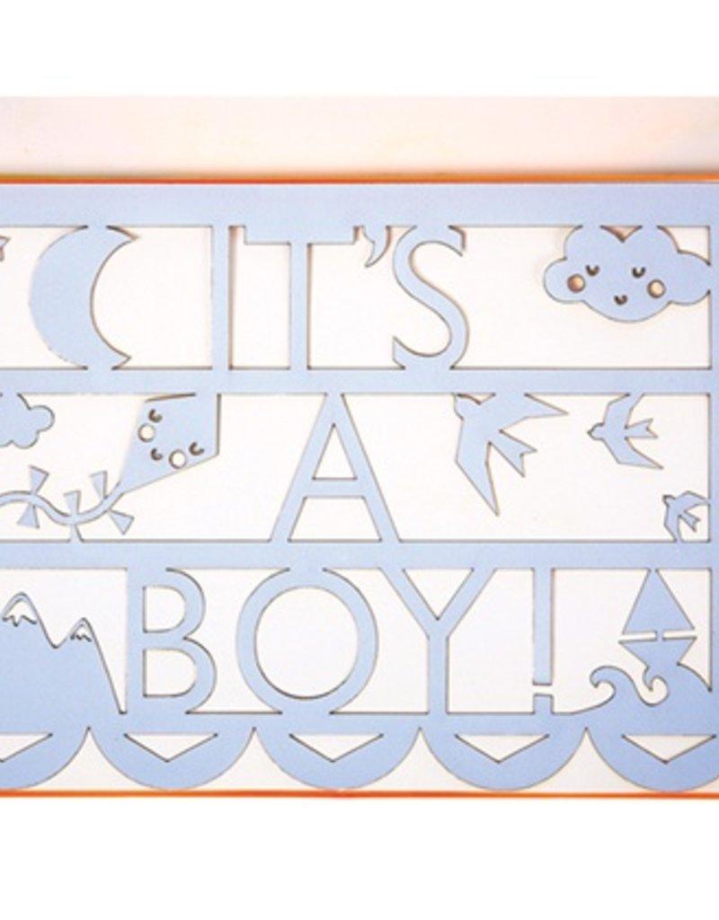 It's A Boy Cut Out Card