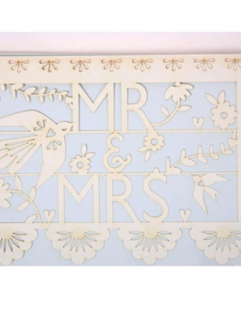 Mr. and Mrs. Cut Out Card