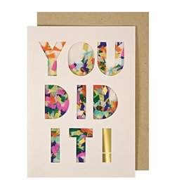 You Did It! Confetti Shaker Card