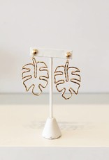 Gold Monstera Leaf Earring