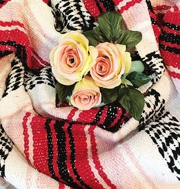 Mexican Serape Blanket - Rose