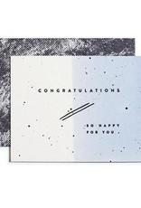Congratulations Blue Ombre Card