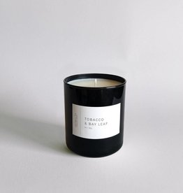 Lightwell Co. Tobacco + Bay Leaf Black Tumbler Candle