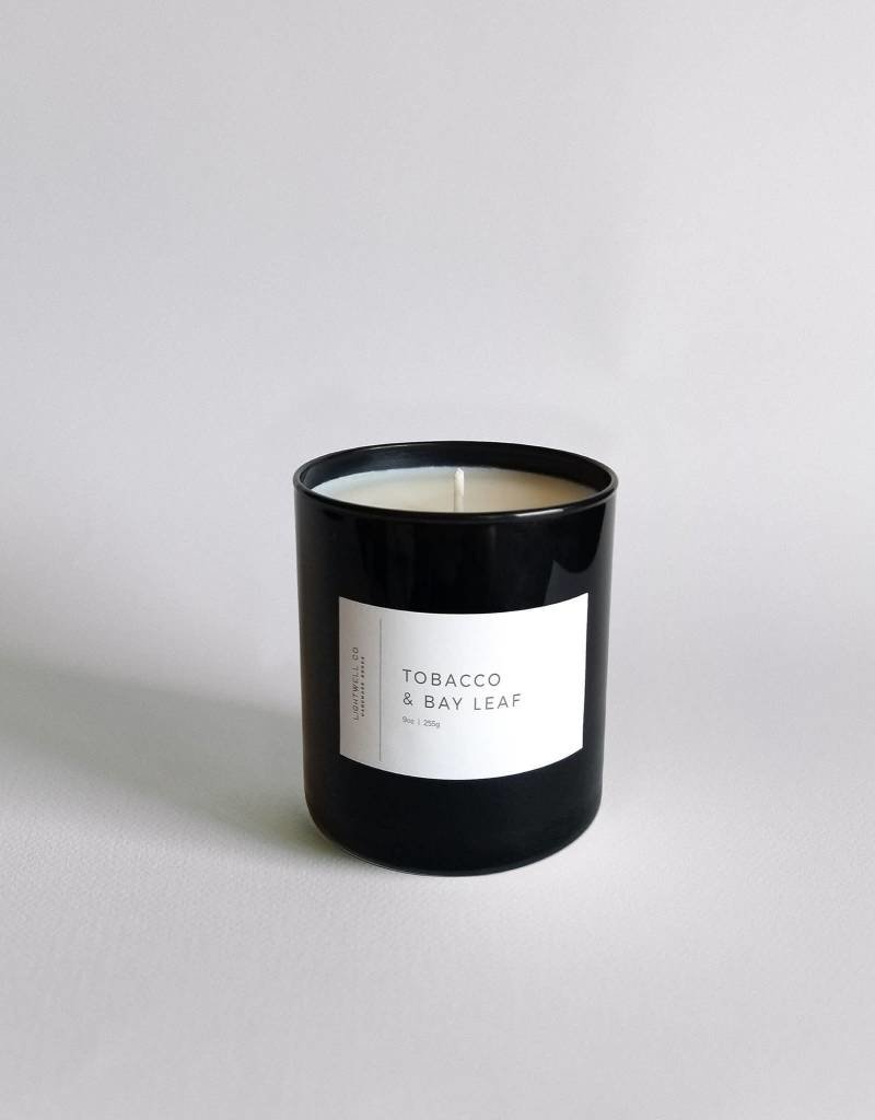 Lightwell Co. Tobacco + Bay Leaf Black Tumbler Candle