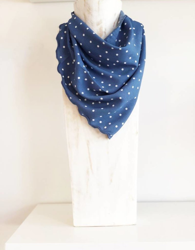 Polka Dot Scarf - Blue