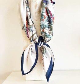 Floral Print Silk Bandana