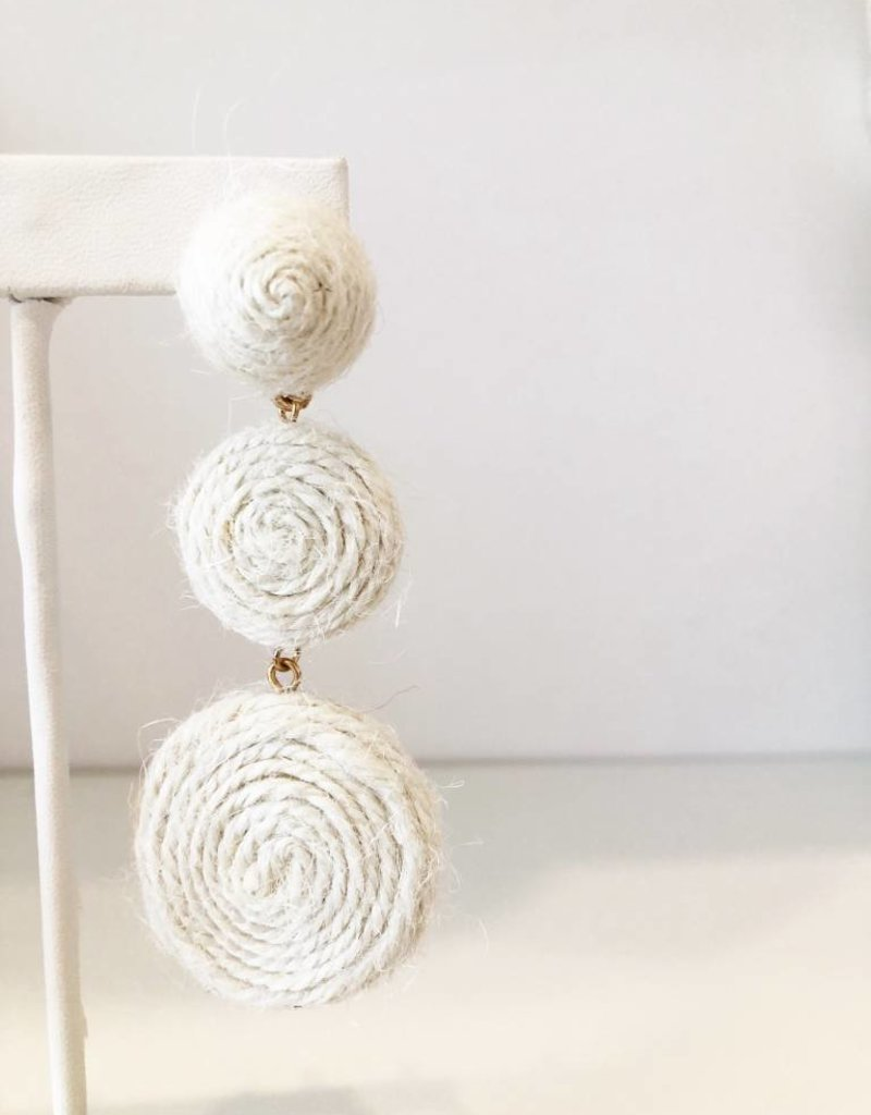 Triple Target Yarn Earring