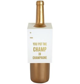 Champ in Champagne Wine Tag - Single