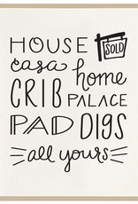 New Home - All Yours Card