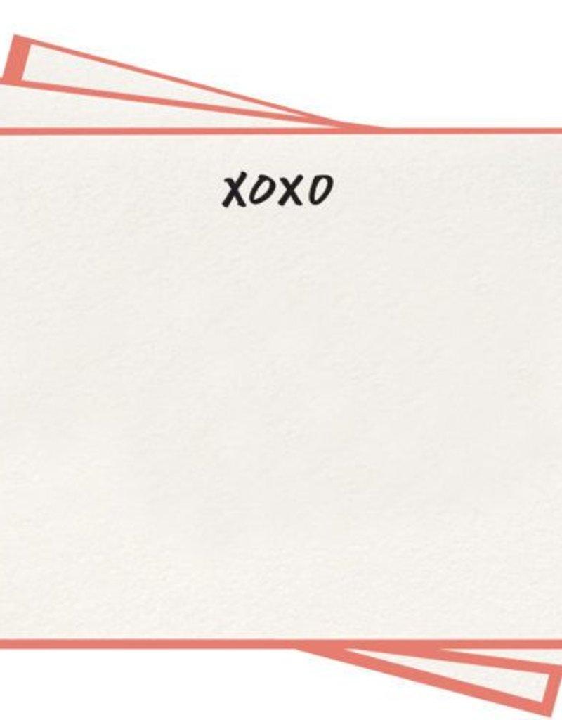XOXO Flat Note Cards - Set of 8