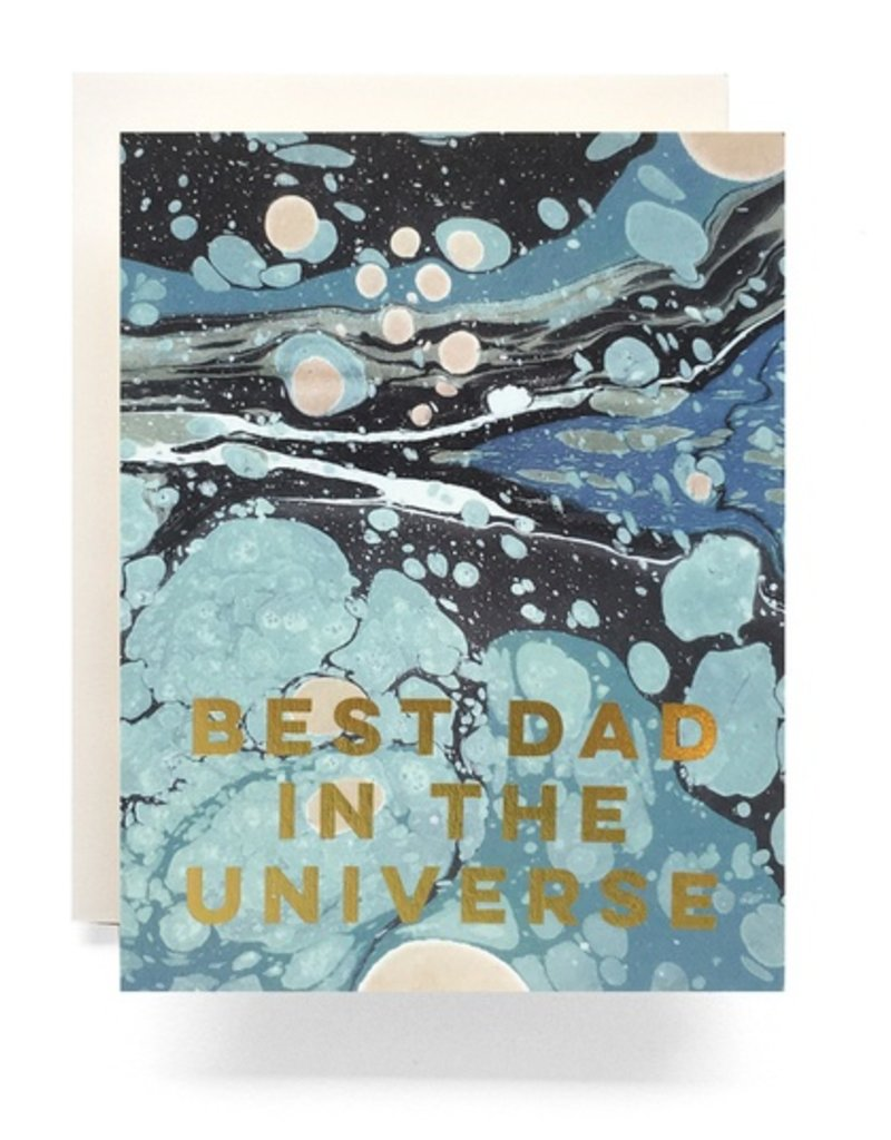 Marble Best Dad Greeting Card