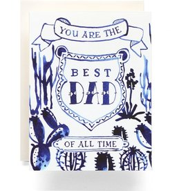 Indigo Cactus Dad Card