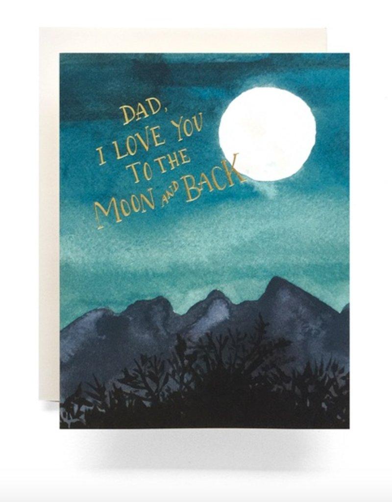 Moon Dad Greeting Card All Good Things