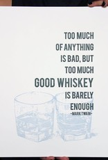 Whiskey Letterpress Print - 8x10