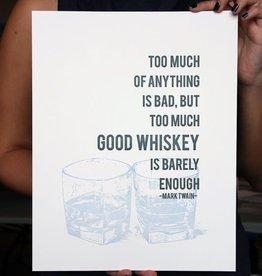 Whiskey Letterpress Print - 8x10